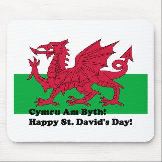 Cymru Am Byth - Happy St. David's Day Mouse Pad