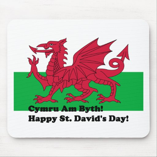 Cymru Am Byth - Happy St. David's Day Mousepads