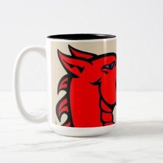 Cymru am Byth Red Dragon Mug