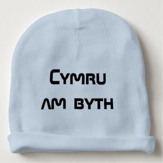 Cymru am byth, Wales for ever in Welsh Baby Beanie