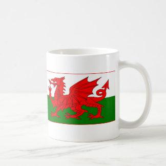 Cymru - bandera Galés Taza Básica Blanca