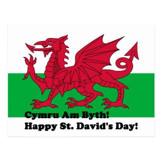 Cymru Byth - el día de St David feliz Postal