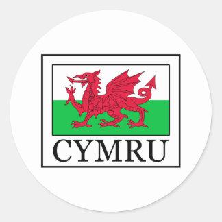 Cymru Classic Round Sticker