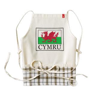 Cymru Delantal Zazzle HEART