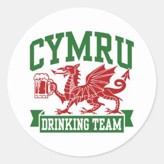 CYMRU Drinking Team Classic Round Sticker