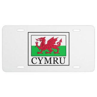 Cymru License Plate