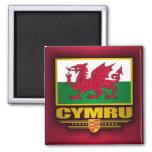 Cymru (País de Gales) Imán Cuadrado