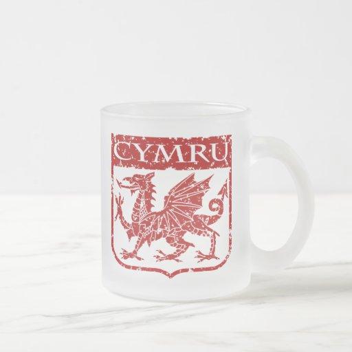 Cymru - País de Gales - vintage Tazas