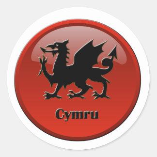 Cymru, Wales Classic Round Sticker