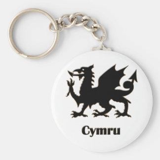 Cymru, Wales Llavero Redondo Tipo Pin