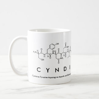 Cyndi peptide name mug