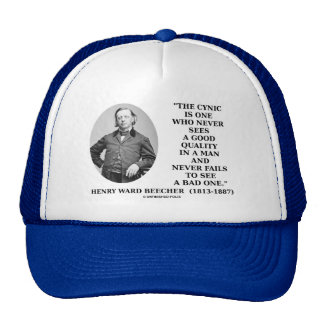Cynic Is One Who Never Sees Good Quality (Beecher) Mesh Hat
