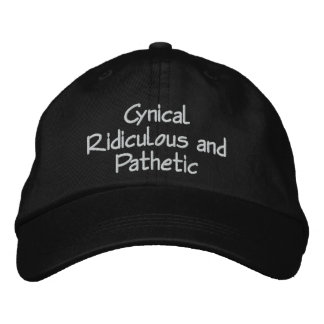 Cynical Ridiculous and Pathetic Cap by CRaP USA Embroidered Baseball Caps