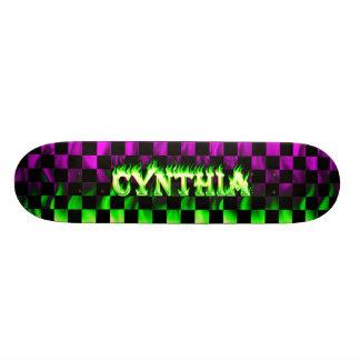 Cynthia green fire Skatersollie skateboard.