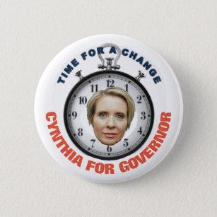 Cynthia Nixon 2018 Pinback Button