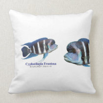 Cyphotilapia frontosa throw pillow