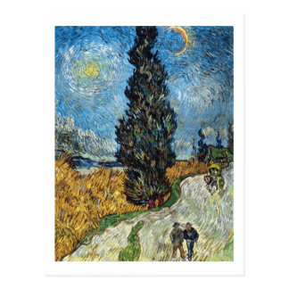 Cypress Against a Starry Sky by Vincent van Gogh Postcard
