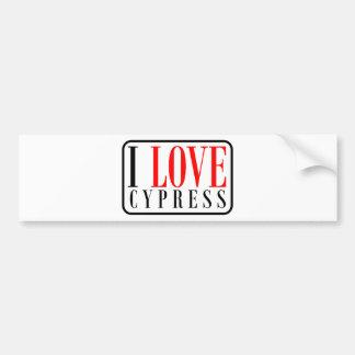 Cypress, Alabama City Design Bumper Sticker