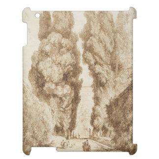 Cypress Avenue at Villa d Este Tivoli by Fragonard Cover For The iPad