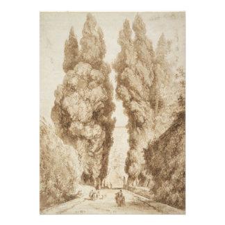 Cypress Avenue at Villa d Este Tivoli by Fragonard Personalized Invites