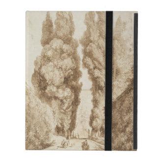 Cypress Avenue at Villa d Este Tivoli by Fragonard iPad Covers