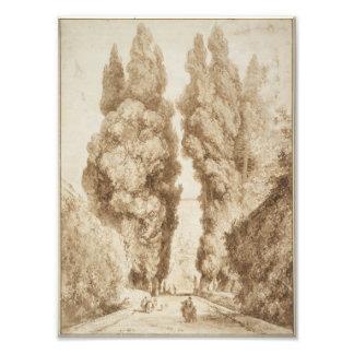 Cypress Avenue at Villa d Este Tivoli by Fragonard Photo Print