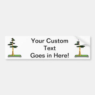 Cypress Bonsai in Tray Graphic Image Bumper Sticker