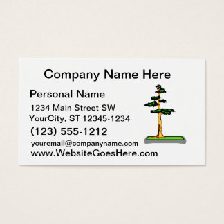 Cypress Bonsai in Tray Graphic Image Business Card
