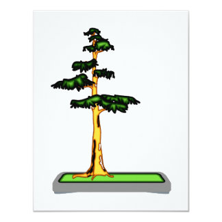 Cypress Bonsai in Tray Graphic Image Personalized Announcement