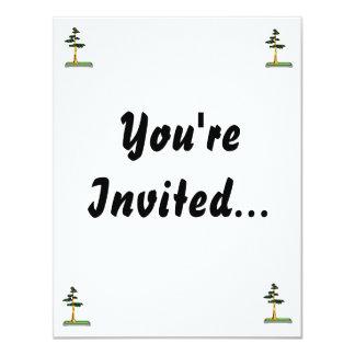 Cypress Bonsai in Tray Graphic Image Custom Invites