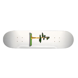 Cypress Bonsai in Tray Graphic Image Custom Skate Board