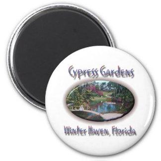 Cypress Gardens 2 Inch Round Magnet