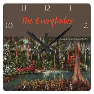 Cypress Gardens Florida Custom Square Wall Clock