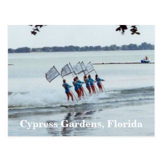 Cypress Gardens Florida Girls WaterSkiing PostCard