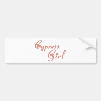 Cypress Girl tee shirts Bumper Stickers