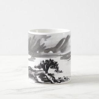 Cypress in Storm Postcard Coffee Mug