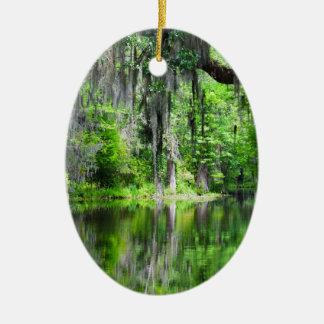 Cypress Lake Oval Ornament