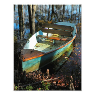 Cypress Rowboat in Autumn Print