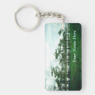 Cypress Sentries Personalized Double-Sided Rectangular Acrylic Keychain