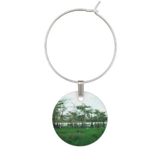 Cypress Sentries Wine Glass Charm