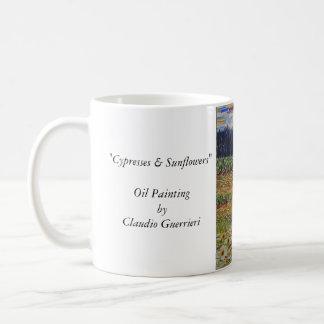 Cypress & Sunflowers Coffee Mug