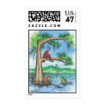 "Cypress Tree Alphabet ""F"" Postage Stamp"