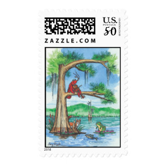 "Cypress Tree Alphabet ""F"" Postage Stamp"
