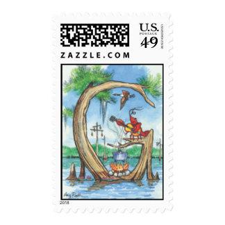 "Cypress Tree Alphabet ""G"" Postage Stamp"