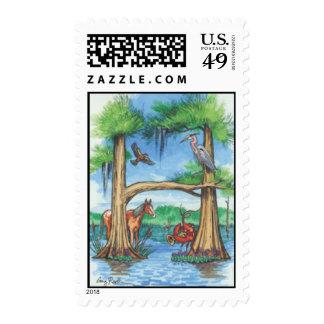 "Cypress Tree Alphabet ""H"" Postage Stamp"