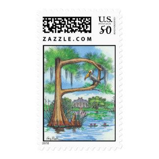 "Cypress Tree Alphabet ""P"" Postage Stamp"