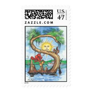 "Cypress Tree Alphabet ""S"" Postage Stamp"