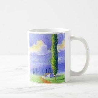 Cypress tree classic white coffee mug