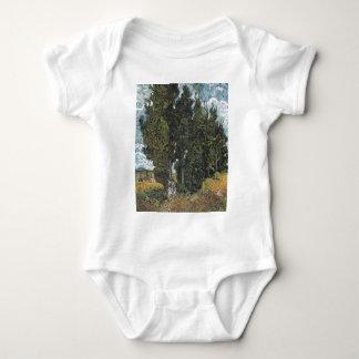 Cypress Trees by Van Gogh Baby Bodysuit