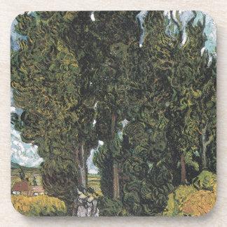 Cypress Trees by Van Gogh Drink Coasters